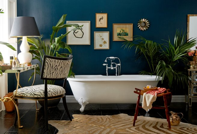 Classic Blue in a Bathroom Sanctuary