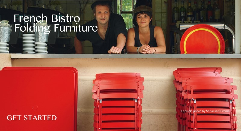 French Bistro Folding Tables and Chairs