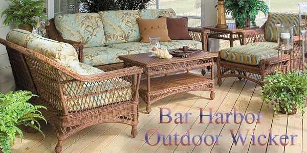 Bar Harbor Outdoor Wicker American Country