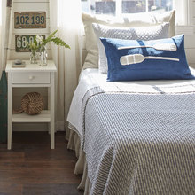 View products in the Bergen Stripe Indigo Bedding by Taylor Linens category