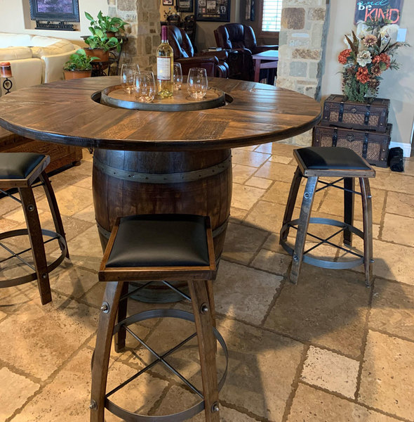 Strange Wine Barrel Furniture At American Country Home Store Download Free Architecture Designs Scobabritishbridgeorg