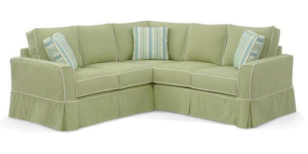 Devin Slipcovered Sectional