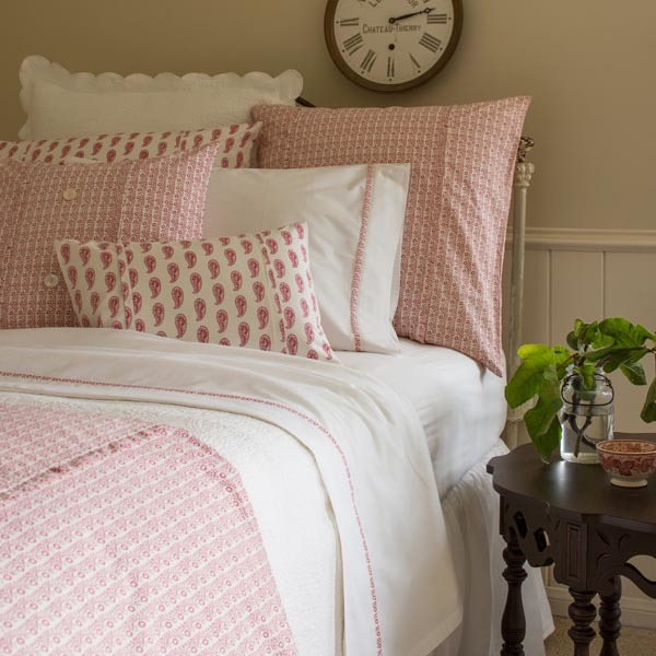 Eloise Red Bedding by Taylor Linens