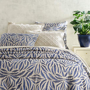 Fossil Embroidered Indigo Bedding by Pine Cone Hill