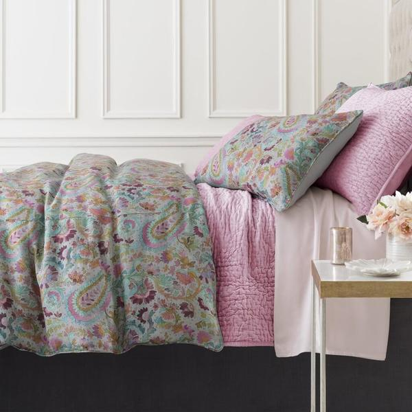 Ines Linen Grey Bedding by Pine Cone Hill