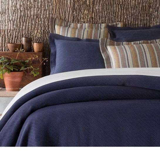 Interlaken Ink Matelasse Bedding by Pine Cone Hill