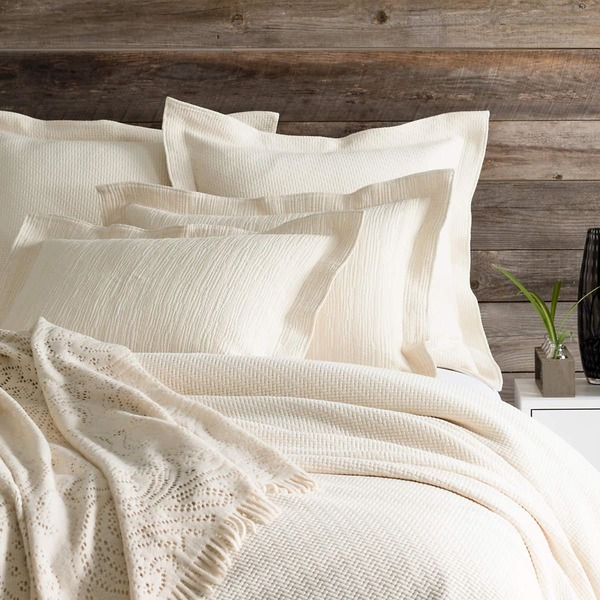 Interlaken Ivory Matelasse Bedding by Pine Cone Hill