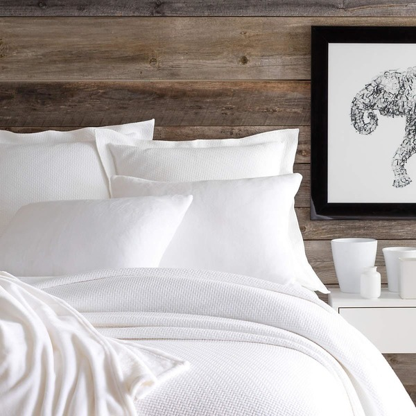 Interlaken White Matelasse Bedding by Pine Cone Hill