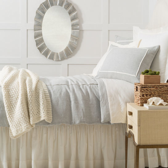Keaton Linen Sky Bedding by Pine Cone Hill
