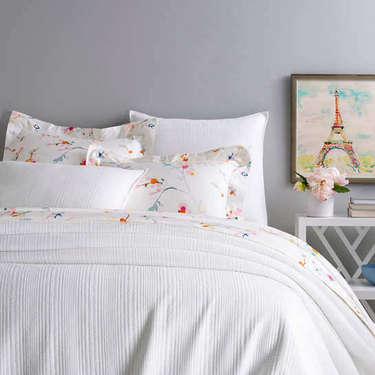 Kelly White Matelasse Bedding by Pine Cone Hill