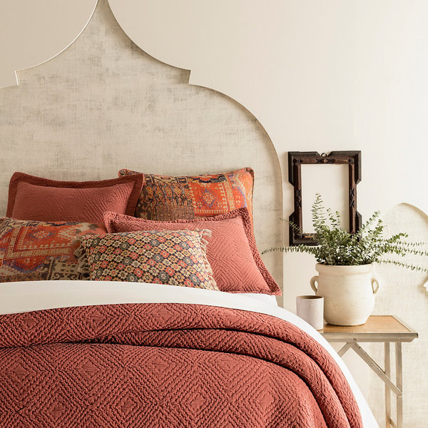 Kerala Spice Matelasse Bedding by Pine Cone Hill
