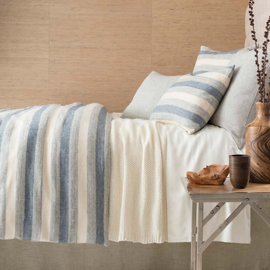 Newton Linen Denim Bedding by Pine Cone Hill
