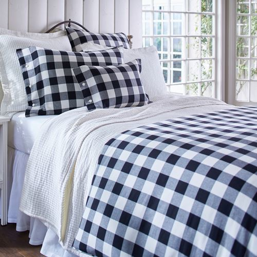 Parker Buffalo Check Duvet Bedding by Taylor Linens