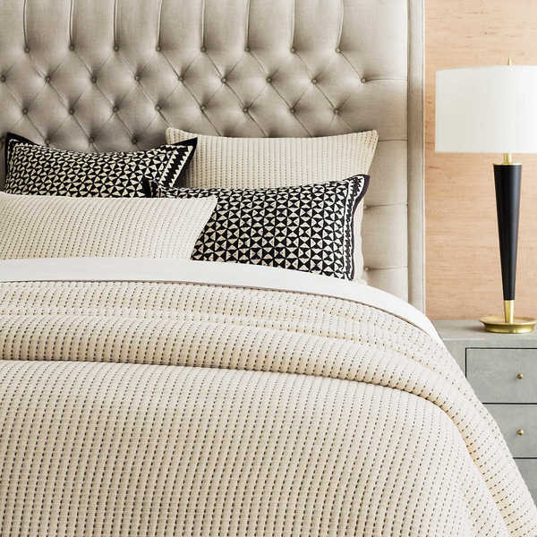 Pick Stitch Natural Matelasse Bedding by Pine Cone Hill