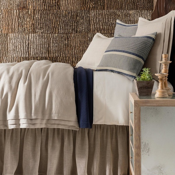 Pleated Linen Natural Bedding by Pine Cone Hill