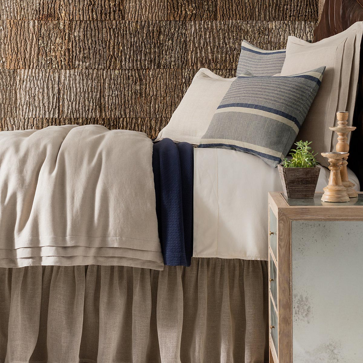 pleated linen natural bedding by pine cone hill - Pine Cone Hill Bedding