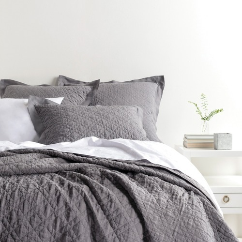 Washed Linen Grey Bedding by Pine Cone Hill