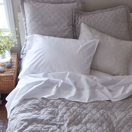 Salt River Grey Matelasse Bedding by Taylor Linens