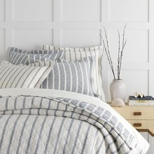View products in the Wainscott Indigo Reversible Matelasse Bedding by Taylor Linens category
