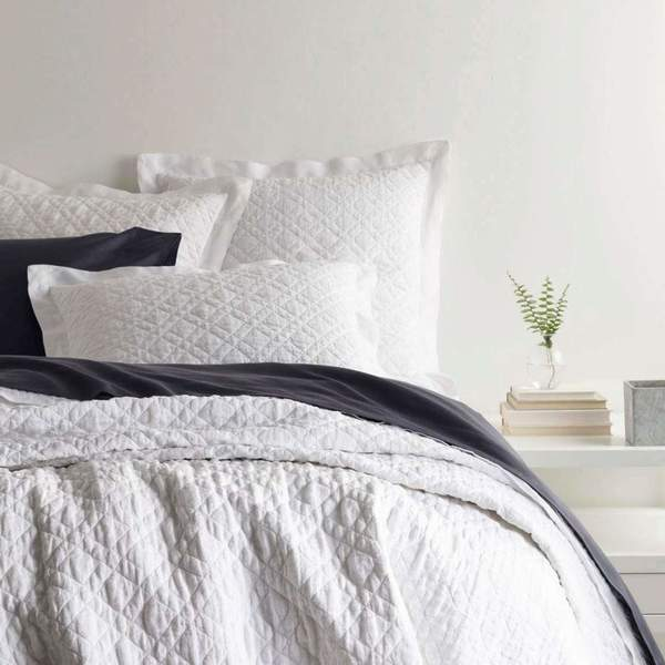 Washed Linen White Bedding by Pine Cone Hill