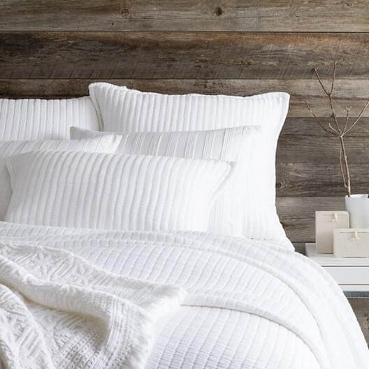 Boyfriend White Matelasse Bedding by Pine Cone Hill