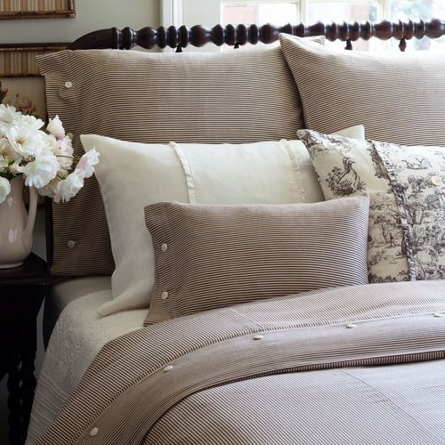 Farmhouse Stripe Bedding by Taylor Linens