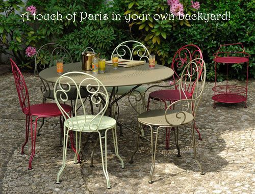 Fermob montmartre tables and chairs at american country - Chaise de jardin fermob ...