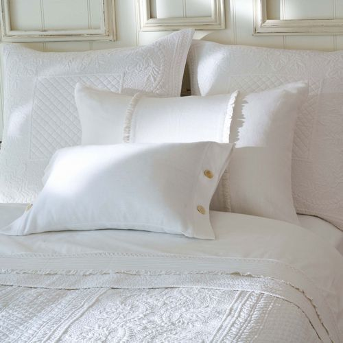 Abigail White Bedding by Taylor Linens