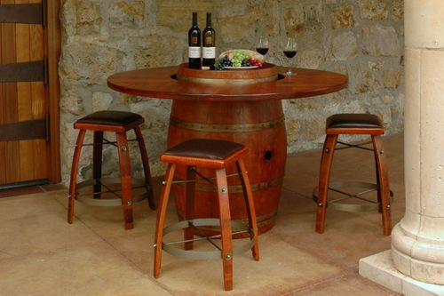 Image result for Wine Barrel Furniture