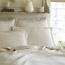 View products in the Hudson Cream with Charcoal Stripe Matelasse Quilt  by Taylor Linens category