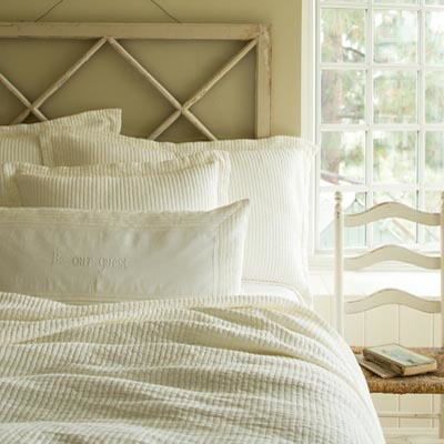 Hudson Cream Matatasse Quilt by Taylor Linens