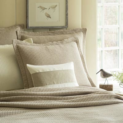 Hudson Natural Matelasse Quilt by Taylor Linens