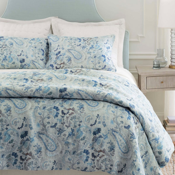 Ines Linen Blue Bedding by Pine Cone Hill