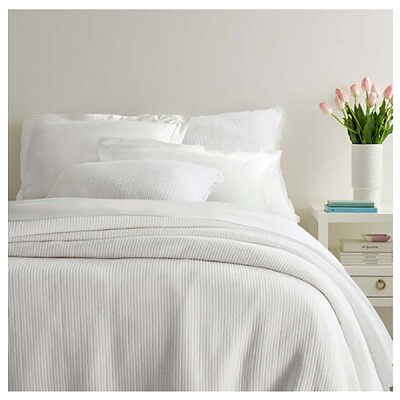 Lisette White Matelasse Bedding by Pine Cone Hill