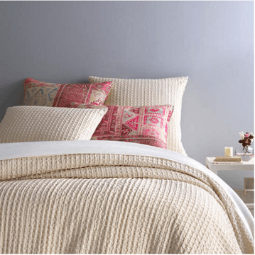 Waffle Ivory Matelasse Bedding by Pine Cone Hill