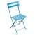 Metal Folding Bistro Chair Turquoise