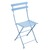 Metal Folding Bistro Chair Fjord Blue
