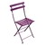 Metal Folding Bistro Chairs Aubergine