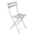 Metal Folding Bistro Chairs Steel Grey