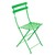 Metal Folding Bistro Chairs Grass Green