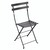 Metal Folding Bistro Chair Anthracite
