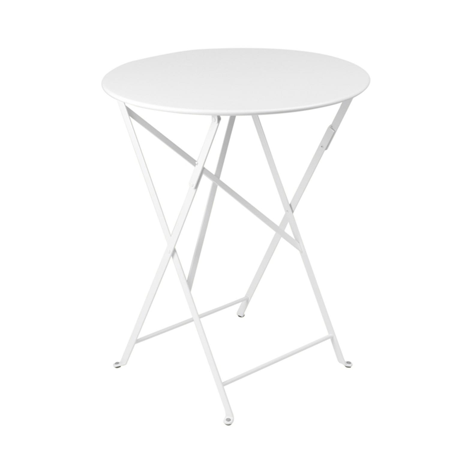 Fermob 24 Inch Folding Table Pictured In Cotton