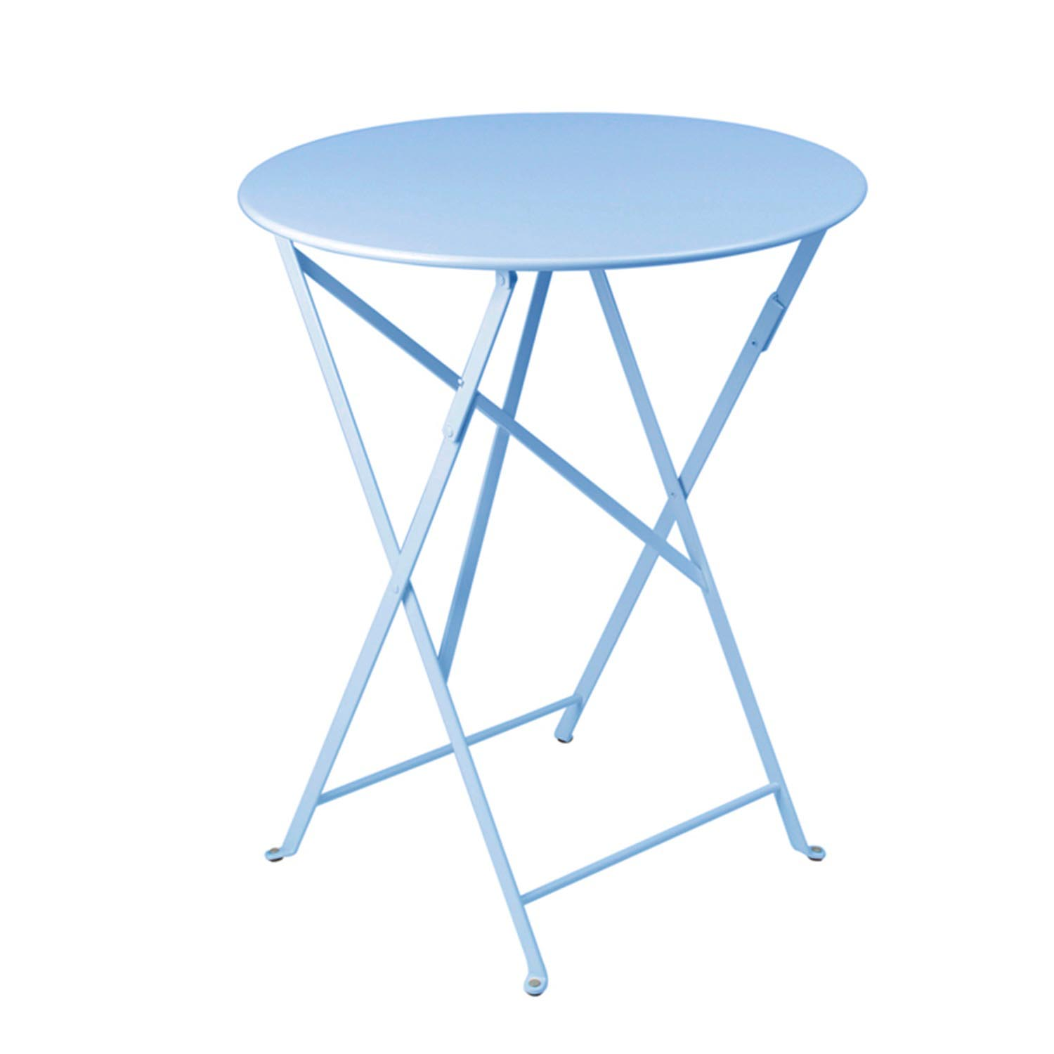 Bistro 24 Inch Folding Table In Fjord Blue