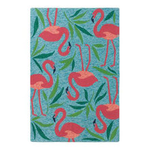 Fancy Flamingo Indoor Outdoor Rug