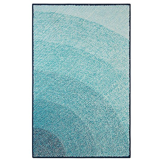 Infinity Blue Indoor Outdoor Rug by CompanyC