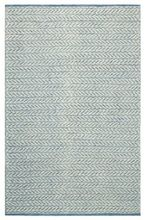Herringbone Blue Rug by CompanyC