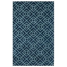 Diamond Lattice Navy Rug by Company C
