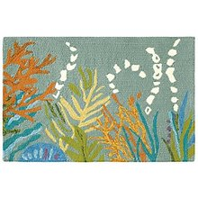 Under the Sea Indoor Outdoor Hooked Rug