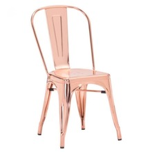 Elliot Rose Gold Chair - Front