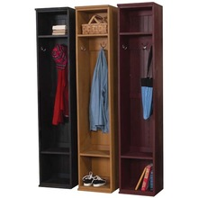 Tall lockers Old Black, Old Gold, and Old Burgundy